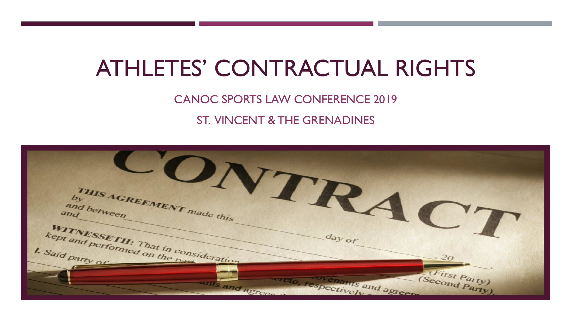 ATHLETES' CONTRACTUAL RIGHTS