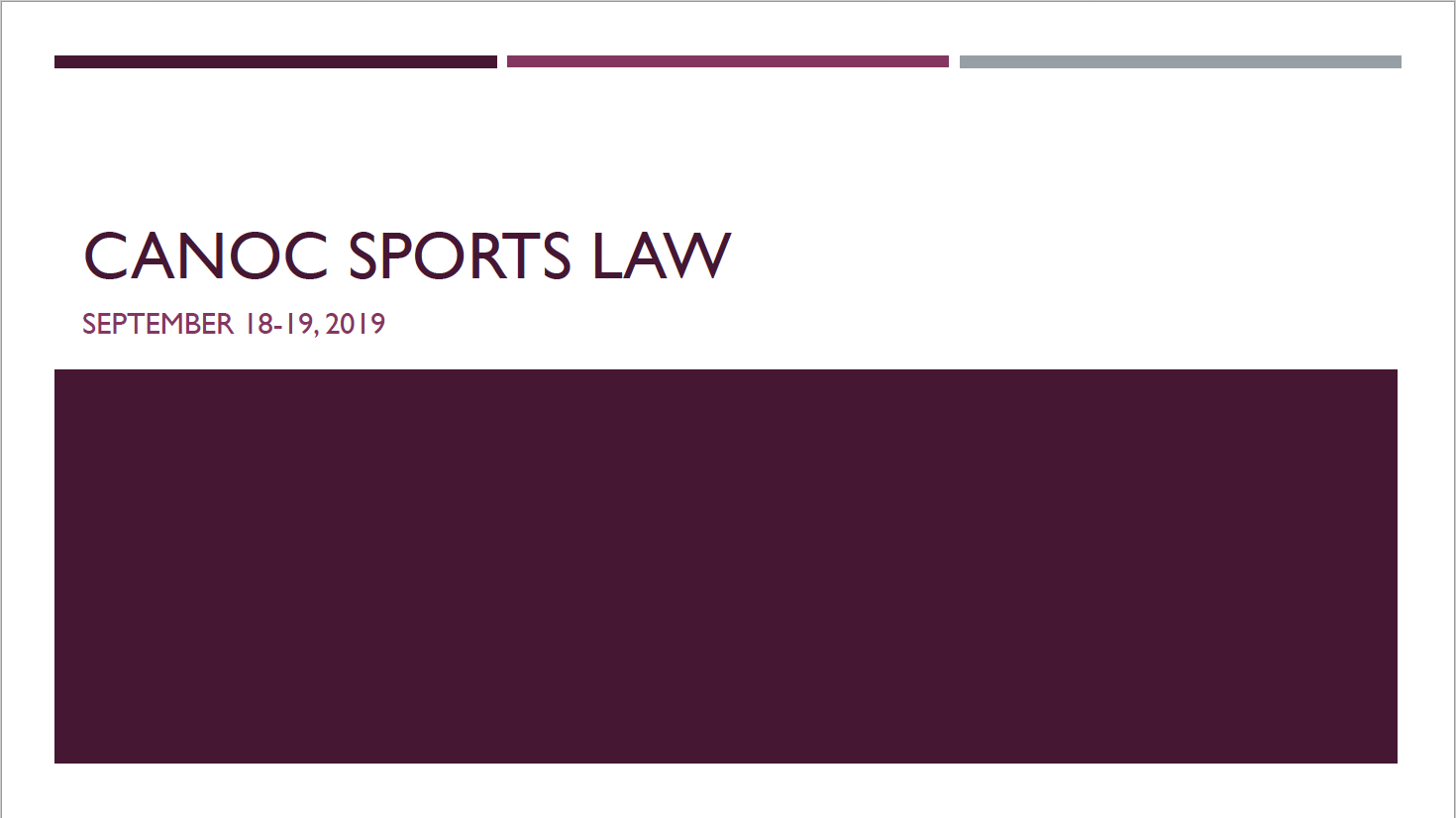 CANOC SPORTS LAW