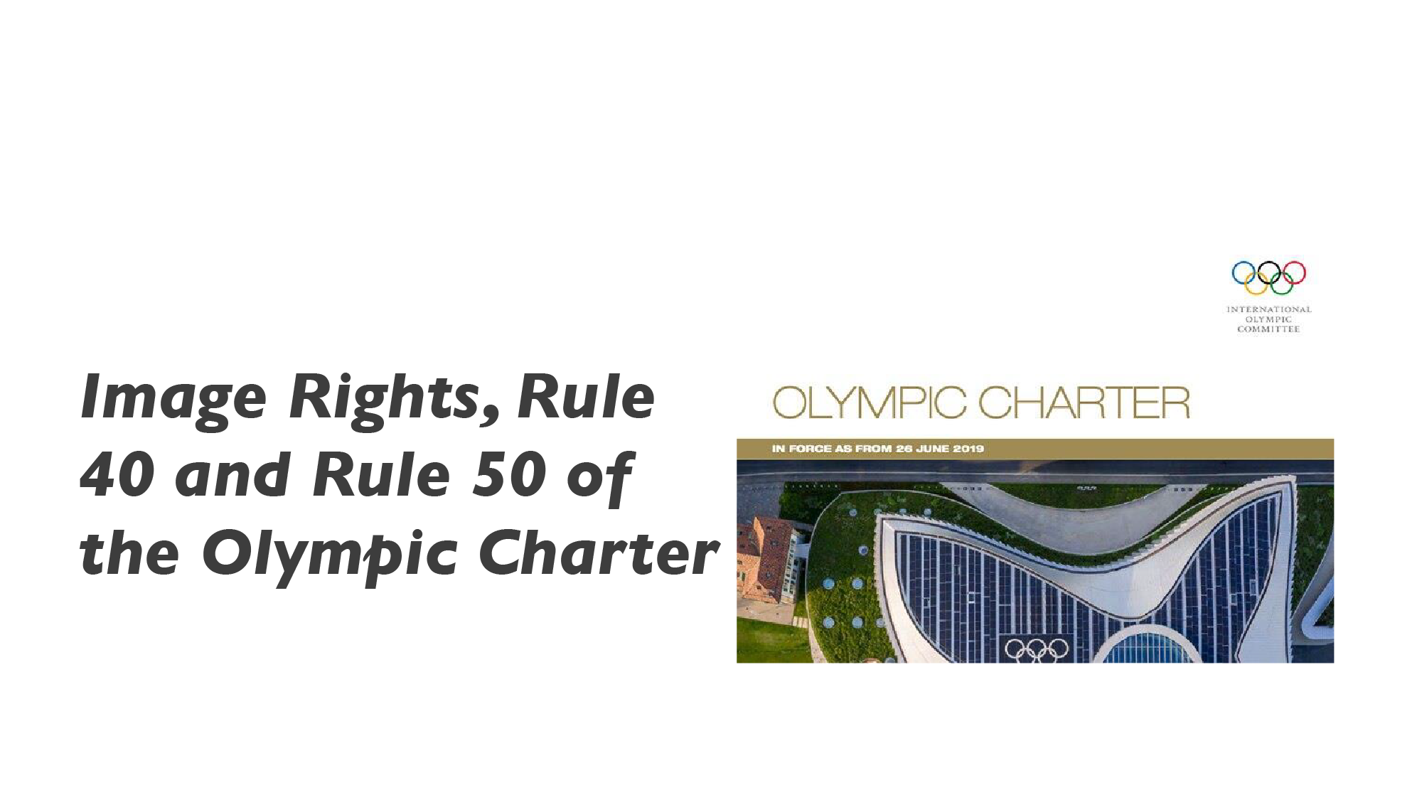Image Rights and Rule 40