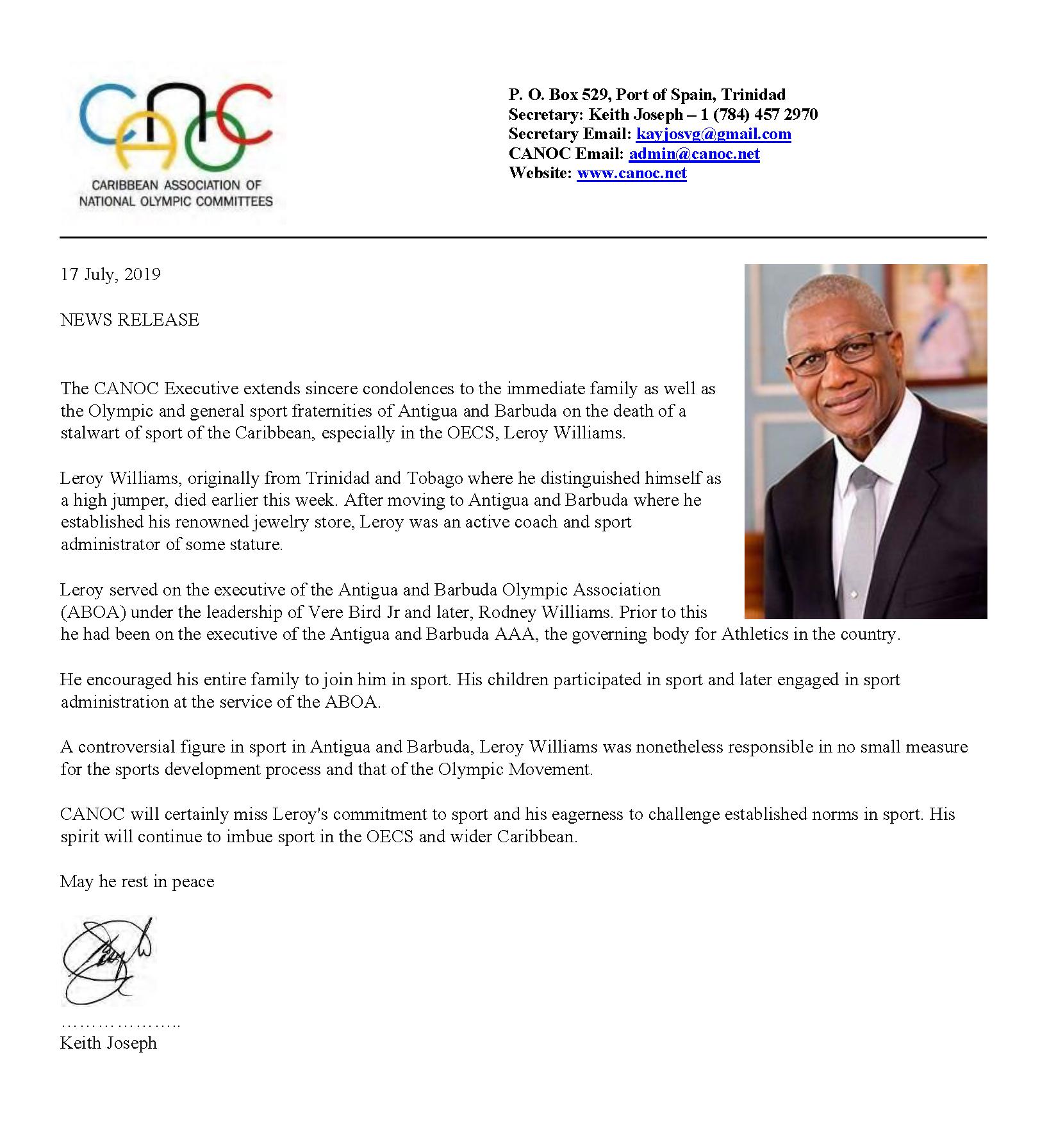 CANOC Condolences - Mr Leroy Williams Jul 2019_Page_1