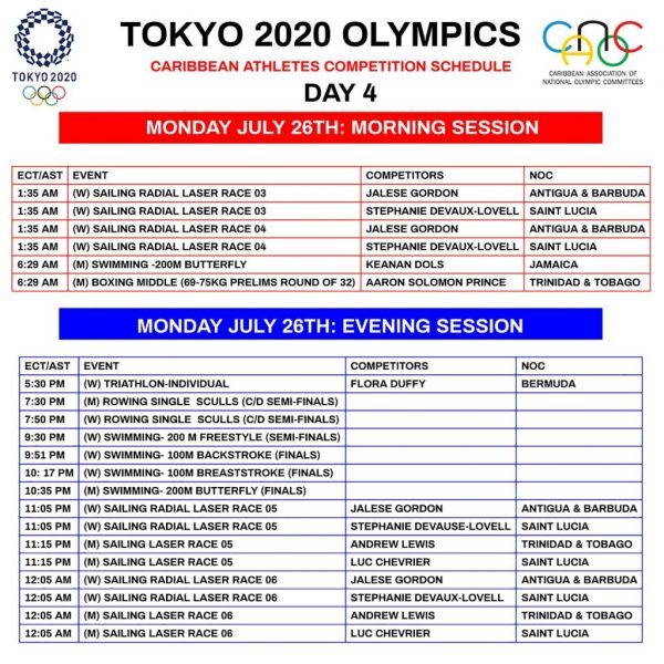 Day 4 26TH JULY SCHEDULE