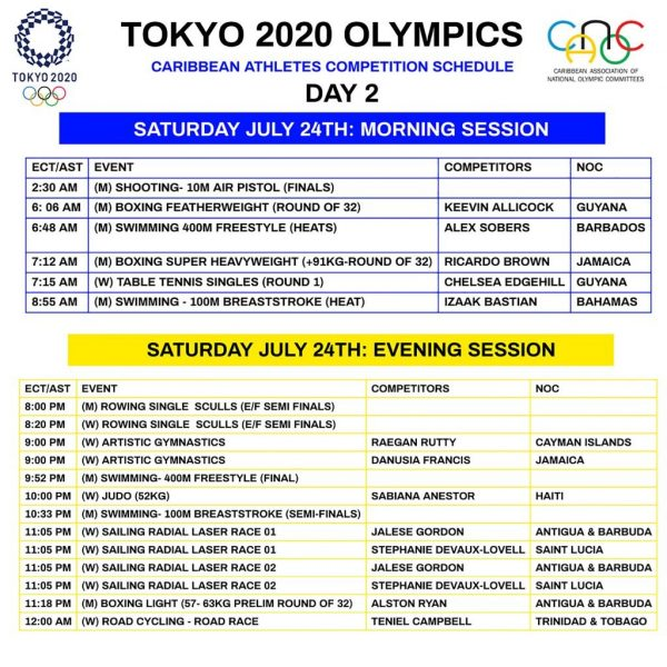 rev DAY 2 24TH JULY SCHEDULE